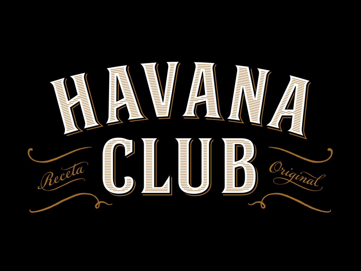 Havna Club Rum typography and logo design