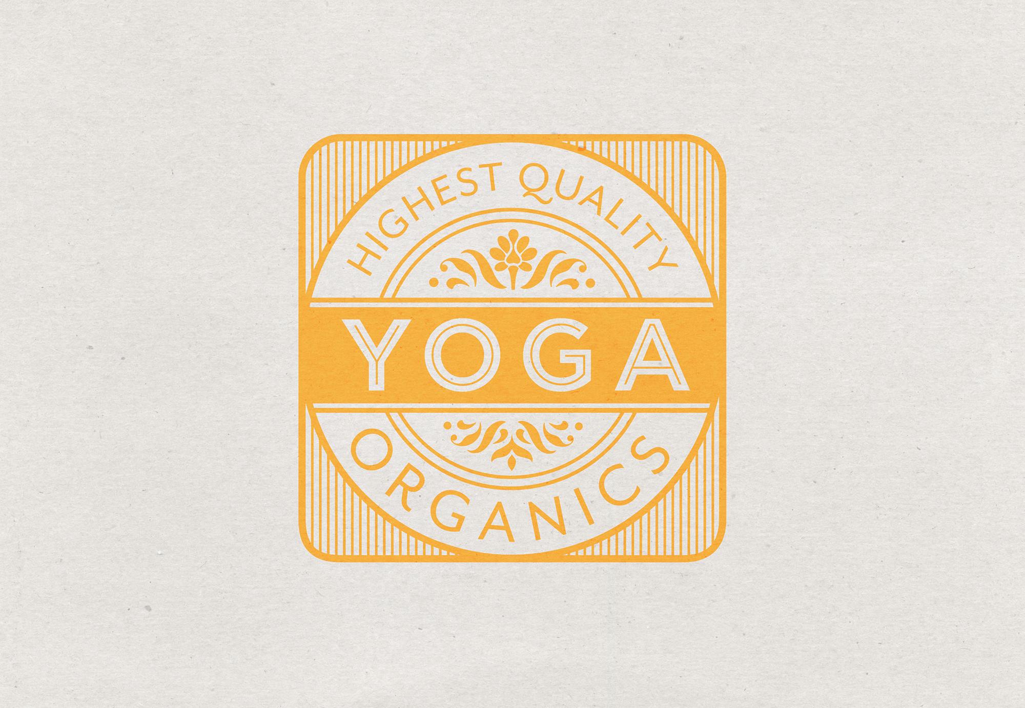 Yoga Rice logo design yellow