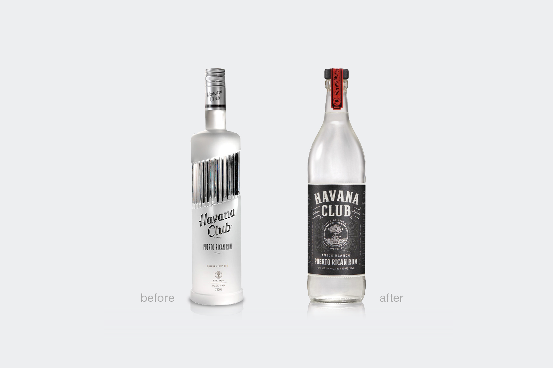 Havana club rum, before and after designed by Tara Lubonovich