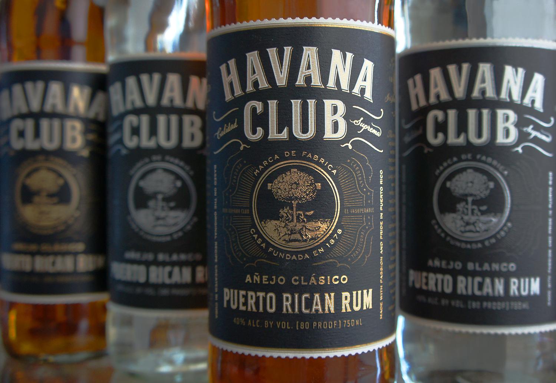 Havana Club Rum bottle design, label details