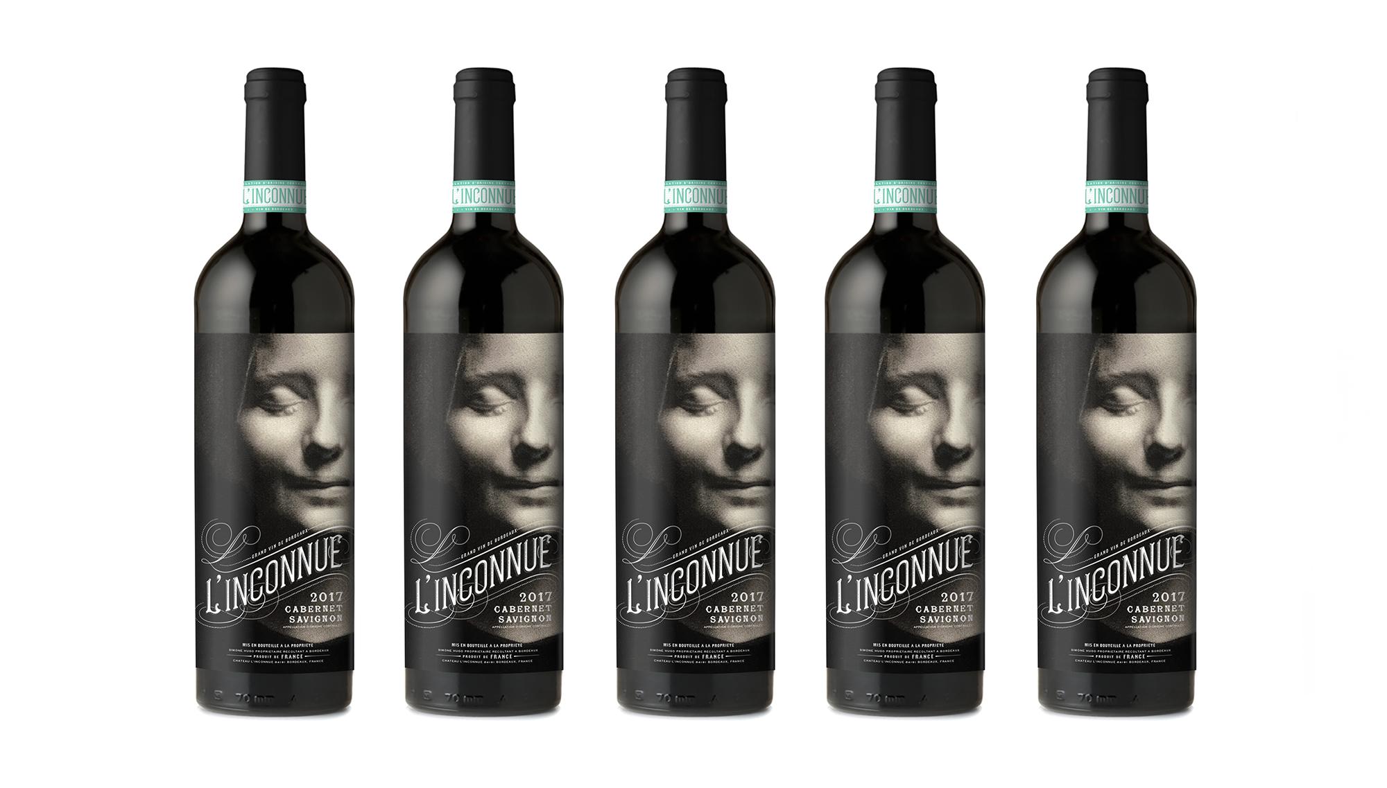 L'inconnue Wine bottle design