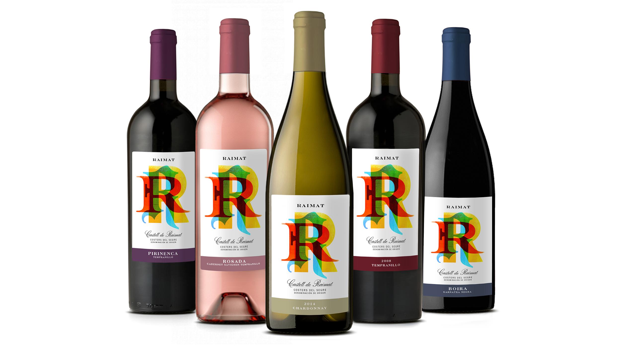 Raimat Wine bottle design