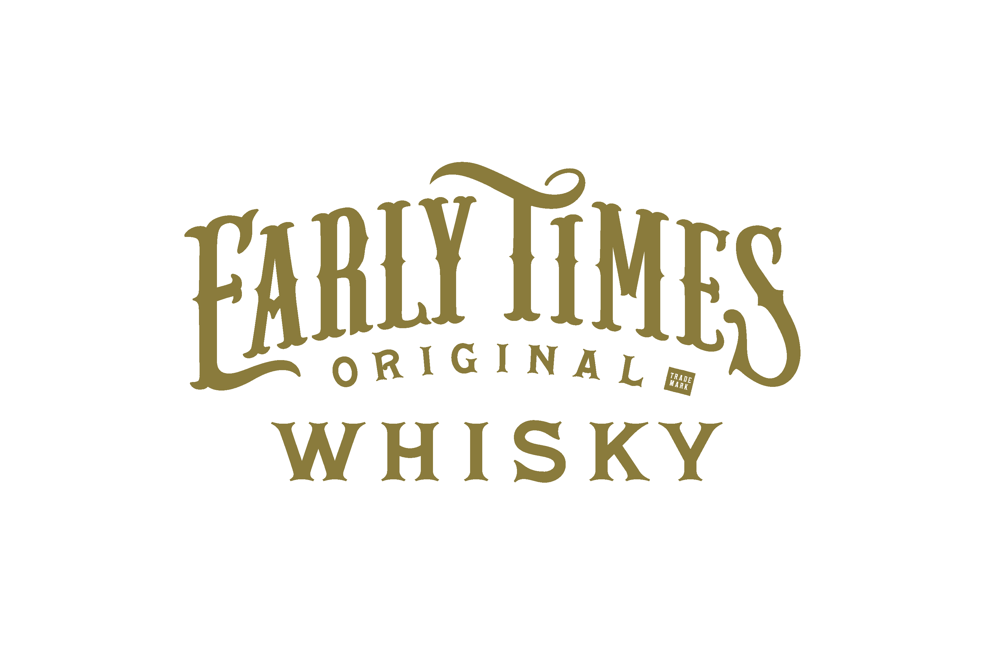 Early Times Whisky logo, custom type design