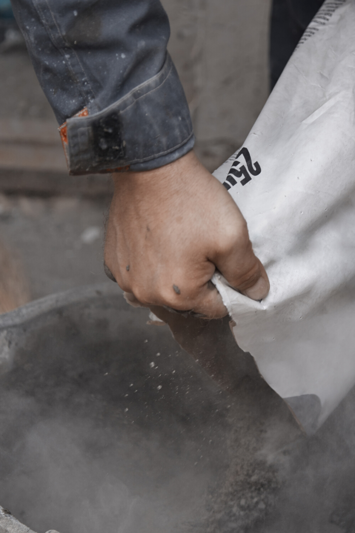 dry-concrete-being-poured