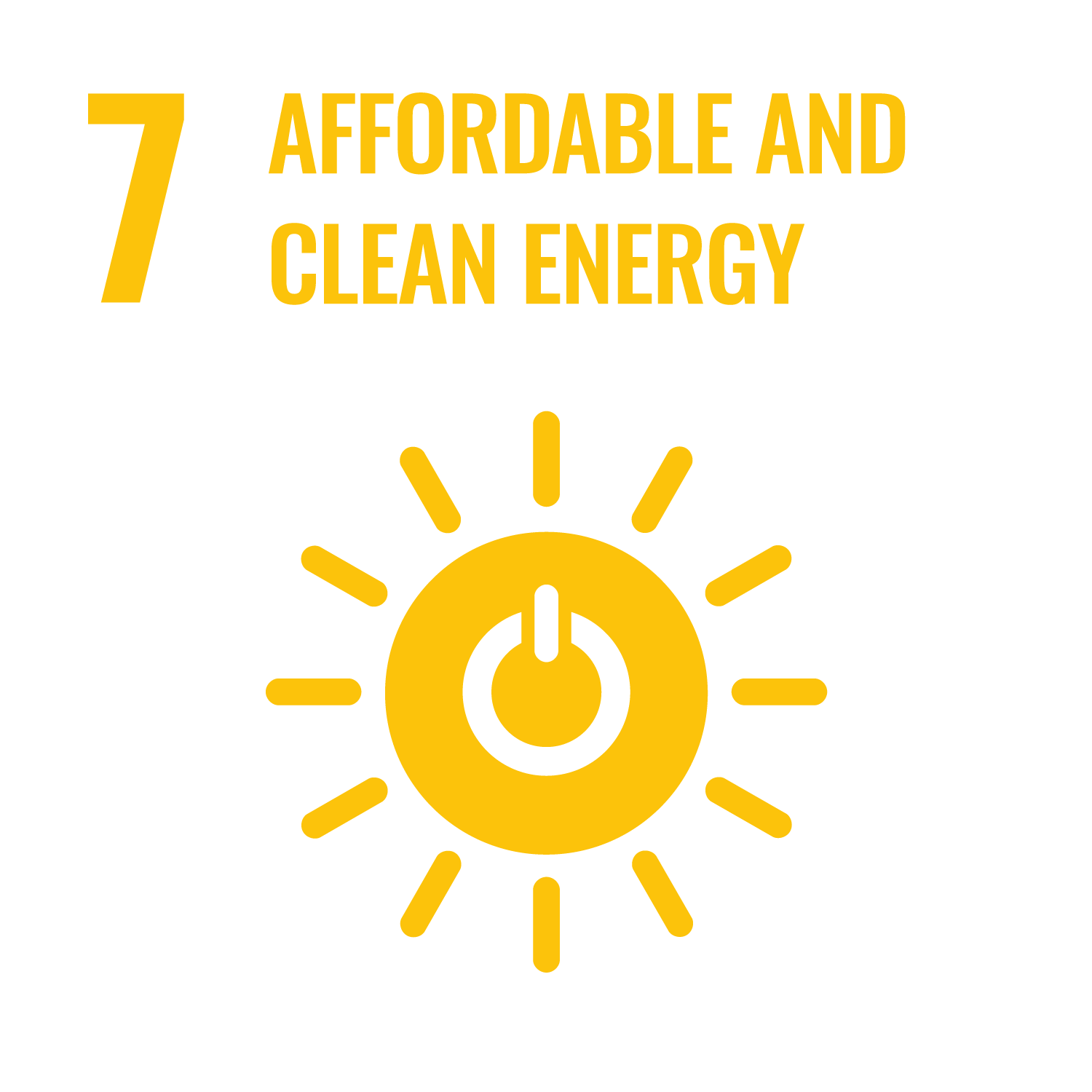 United Nations Sustainable Development Goals - Affordable and clean energy