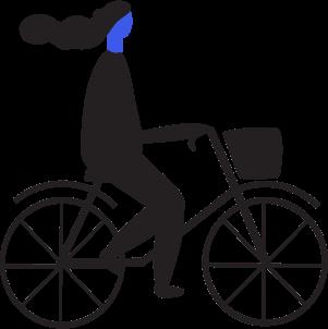Cyclist on a bike
