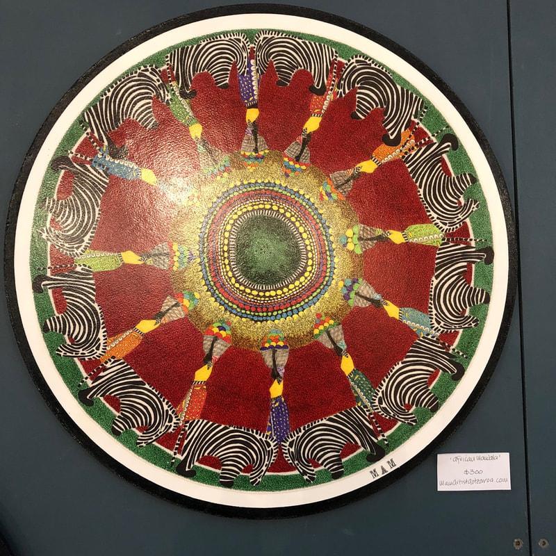 Circular Abstract Painting