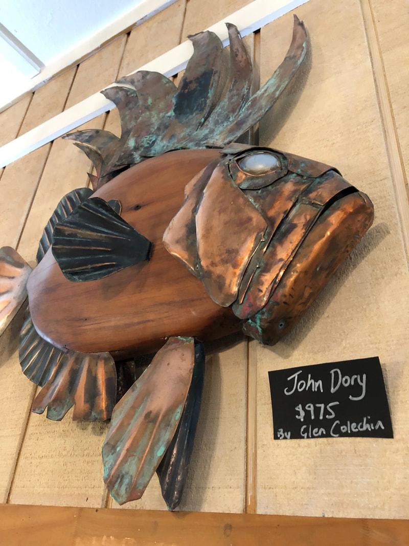 Large Copper Fish Sculpture