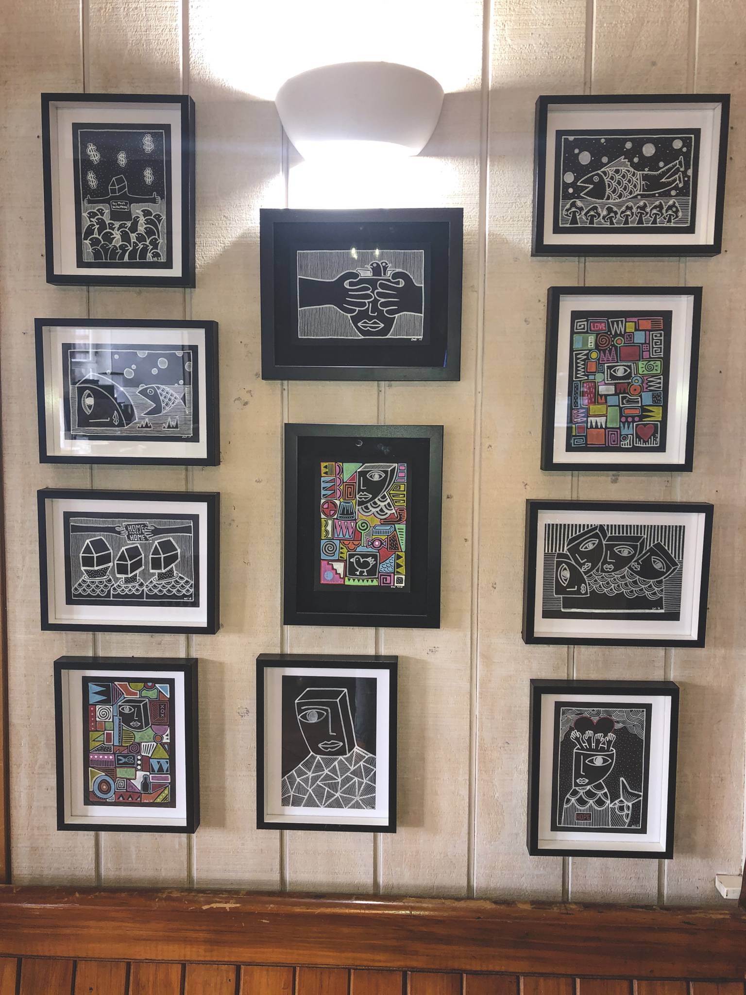 Abstract Framed Drawings