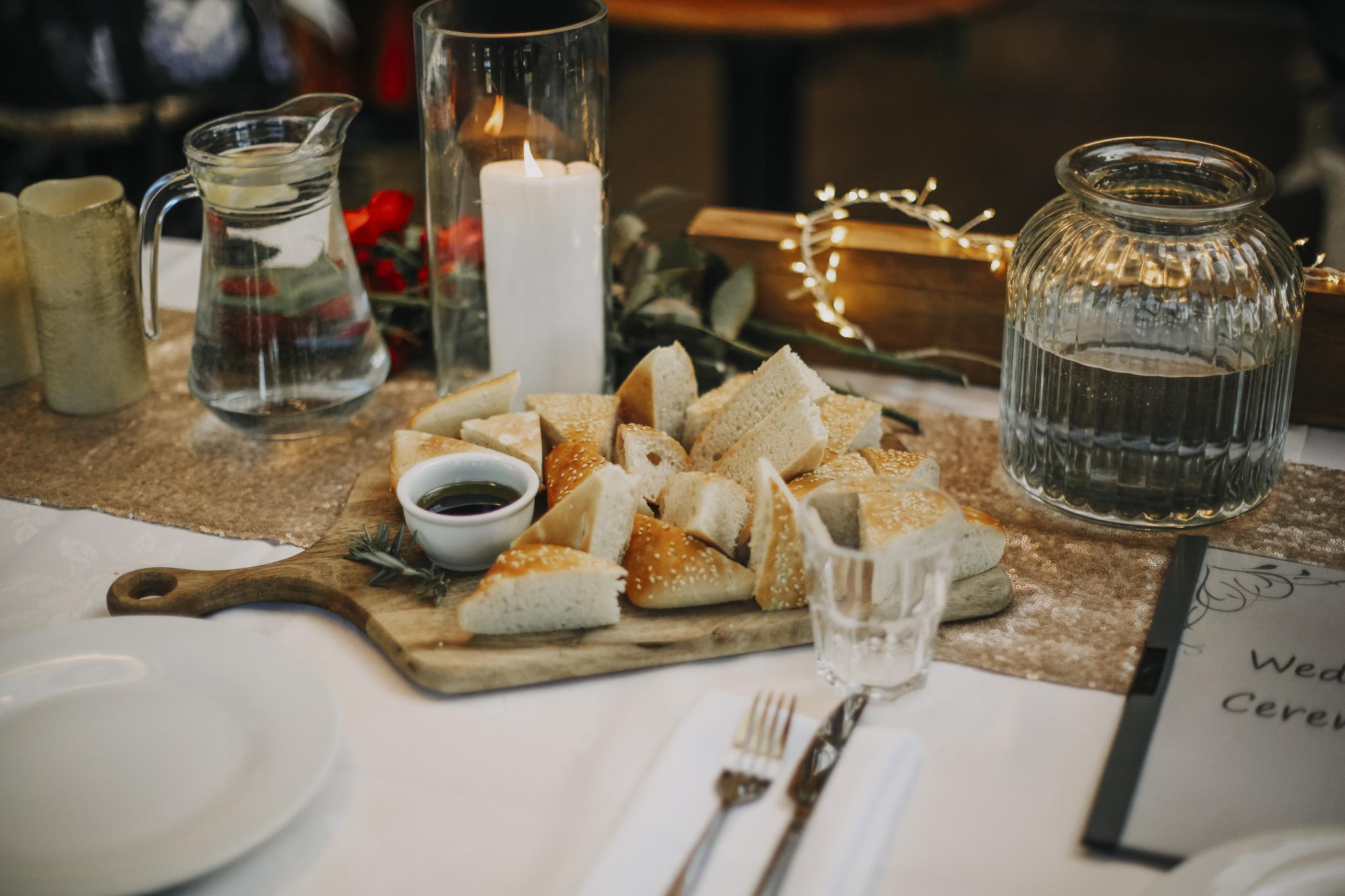 Fresh bread platter for functions