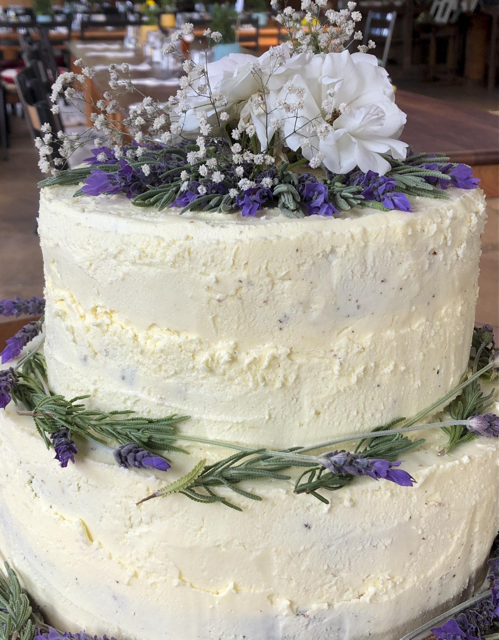 A large wedding cake
