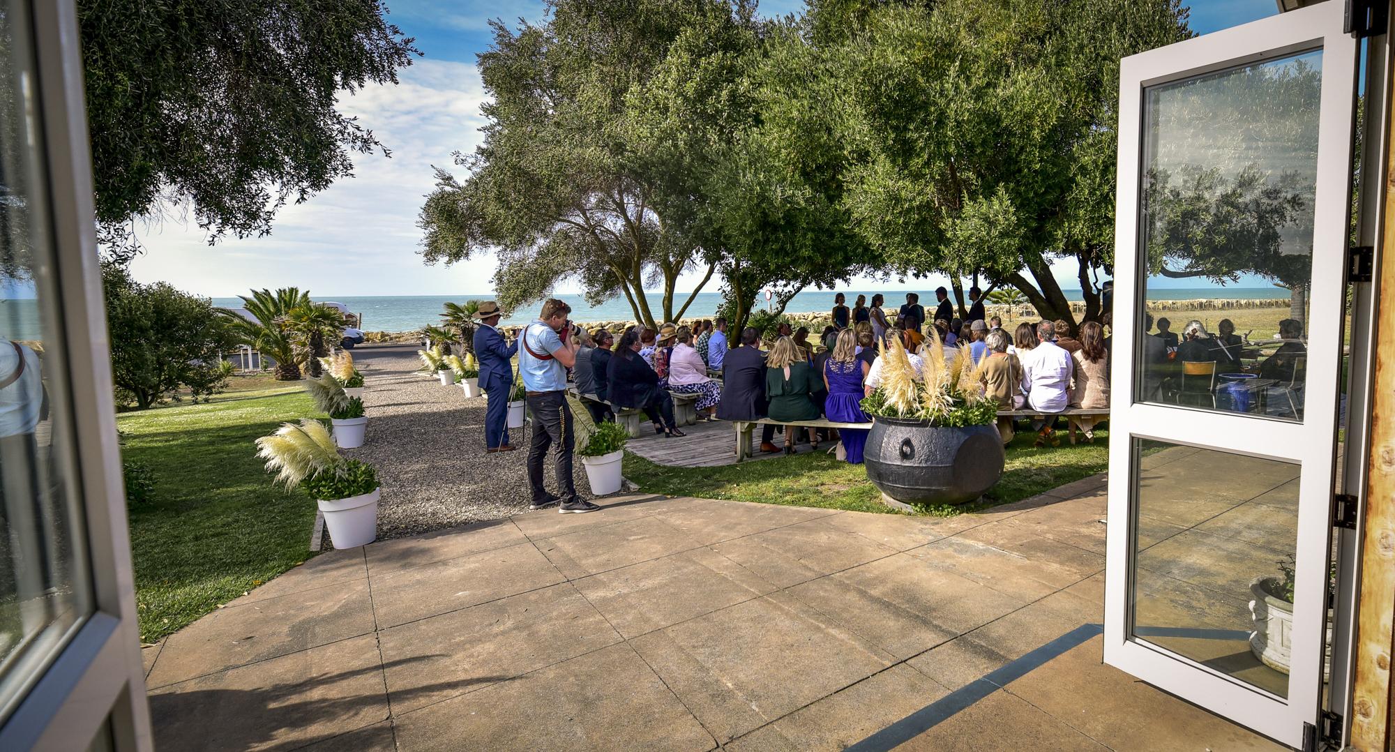 Wedding ceremony next to the sea
