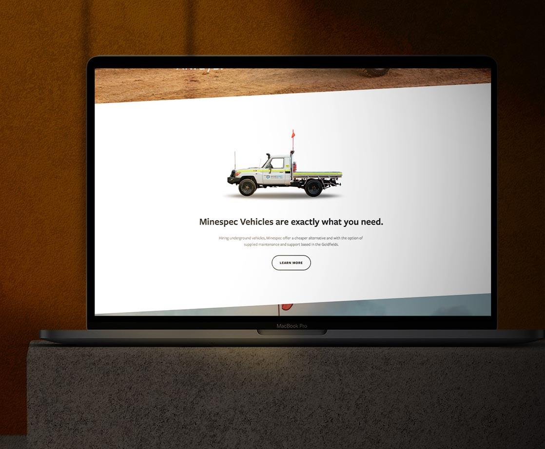 Website design for Minespec Equipment Hire
