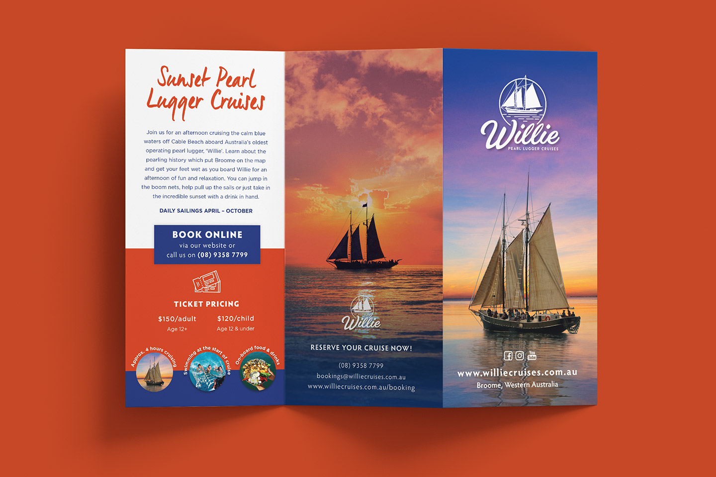 WIllie Pearl Lugger Cruises DL Brochure by Flametree Creative
