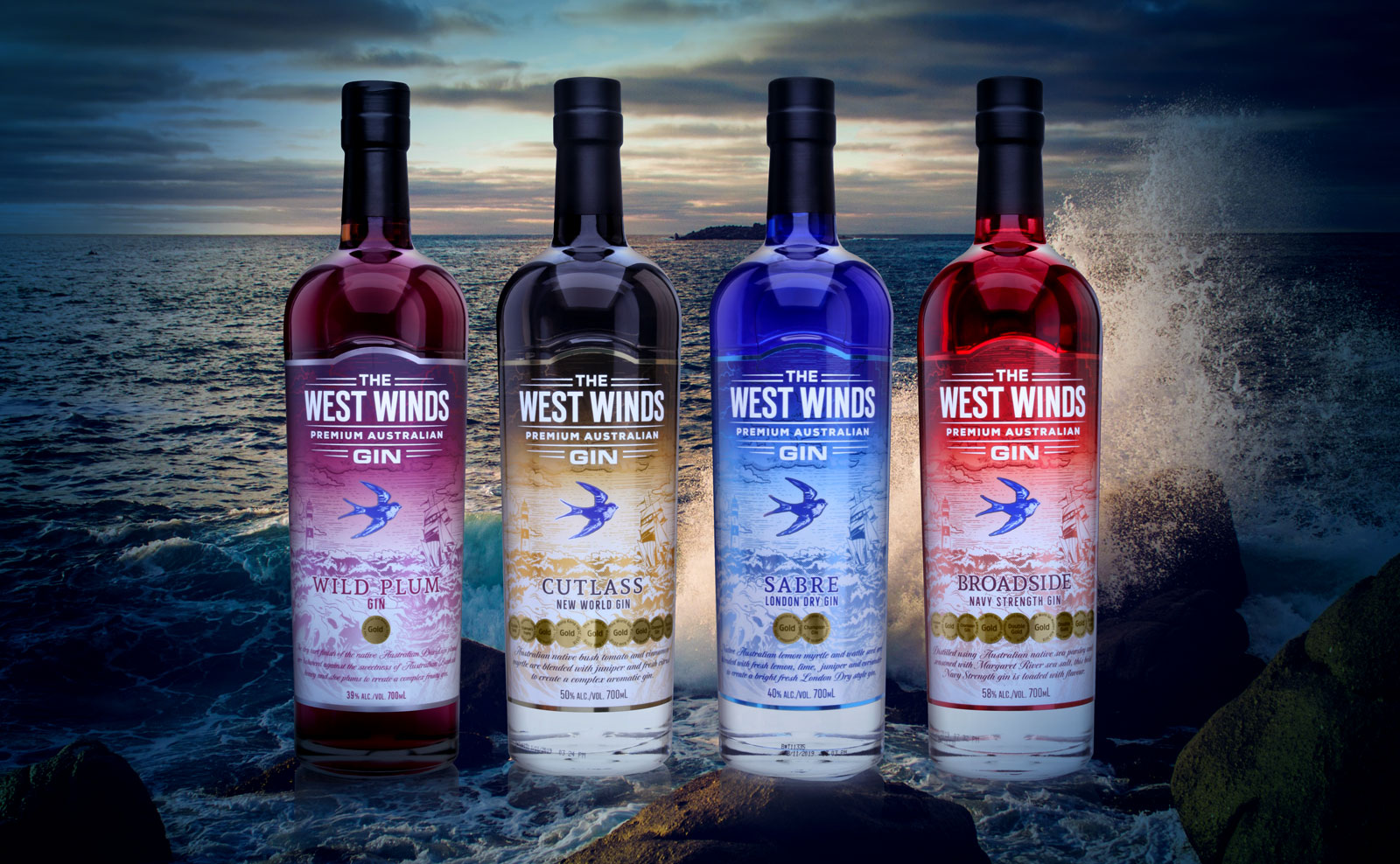 West Winds Gin Packaging