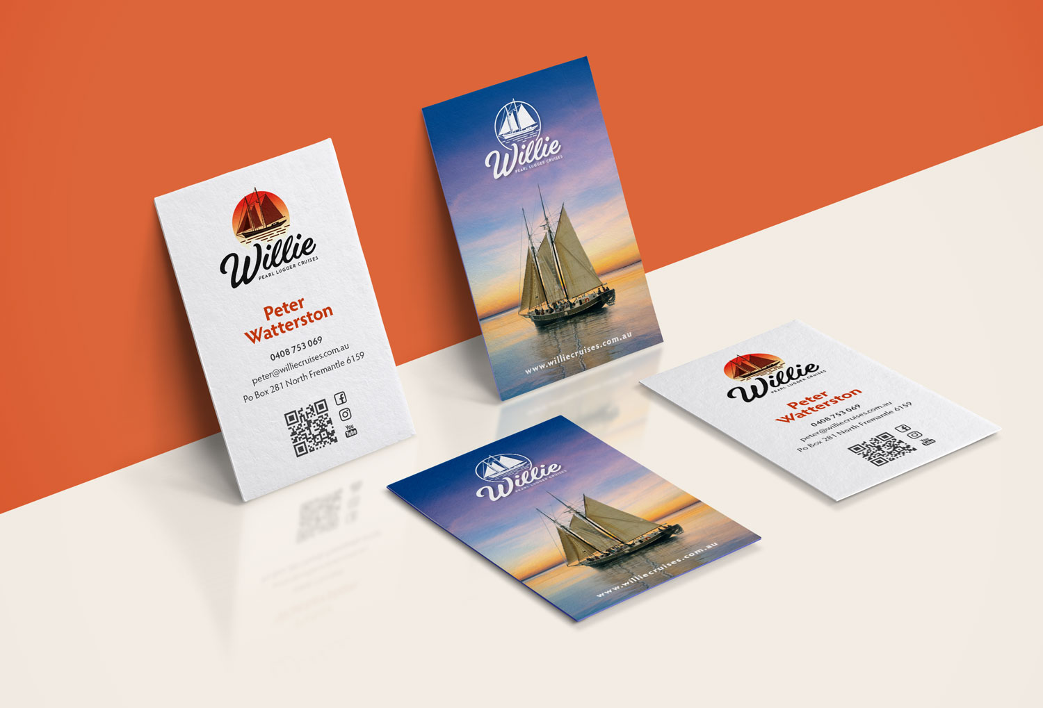Printed marketing materials for 'Willie'