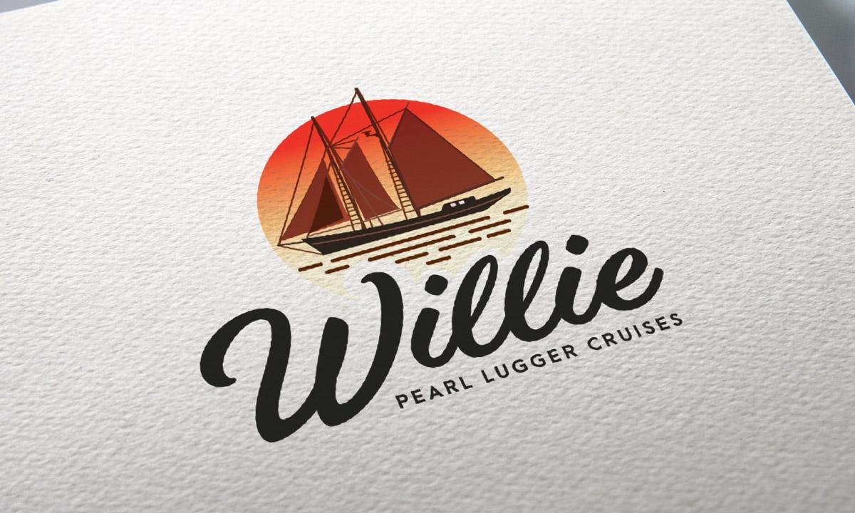 Willie Pearl Lugger Cruises Branding