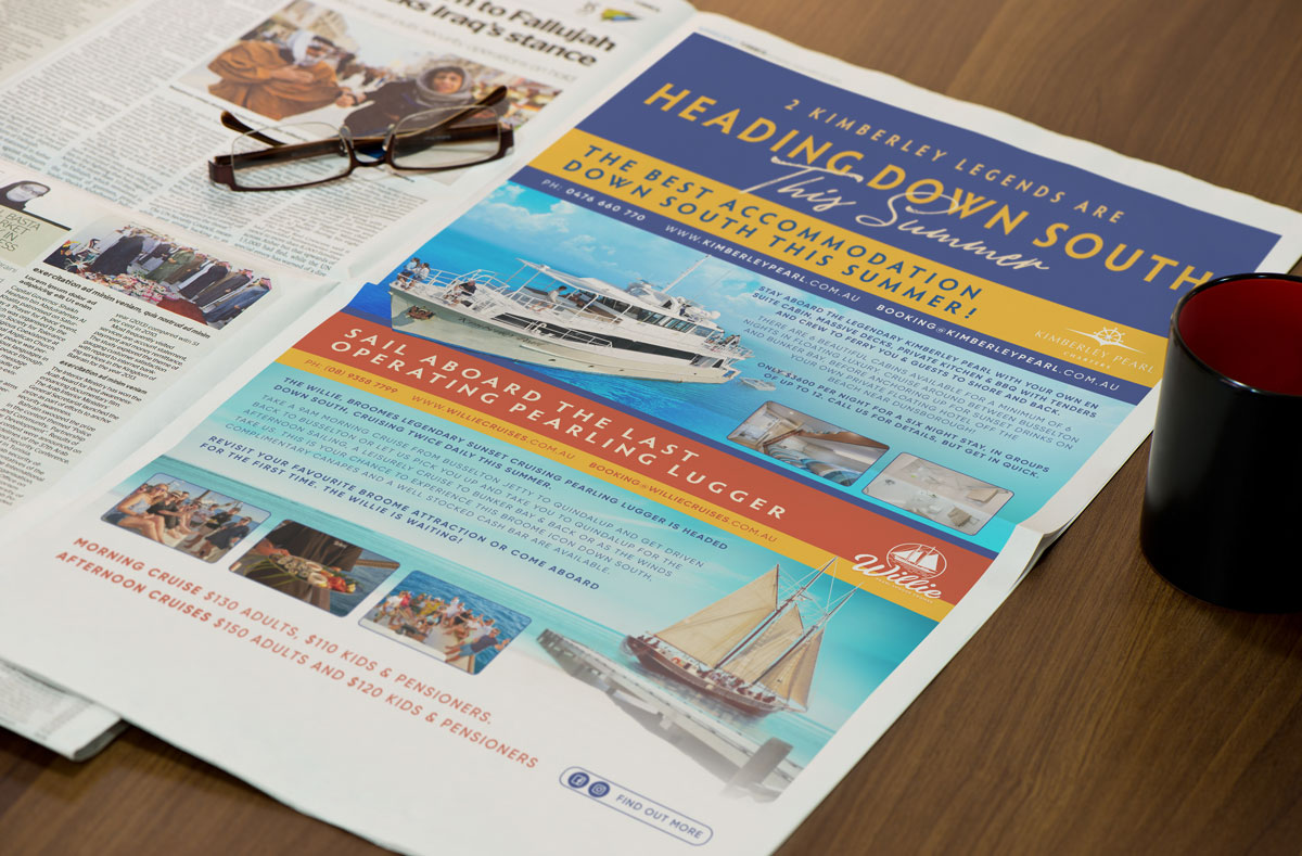 Willie Pearl Lugger Cruises Branding
