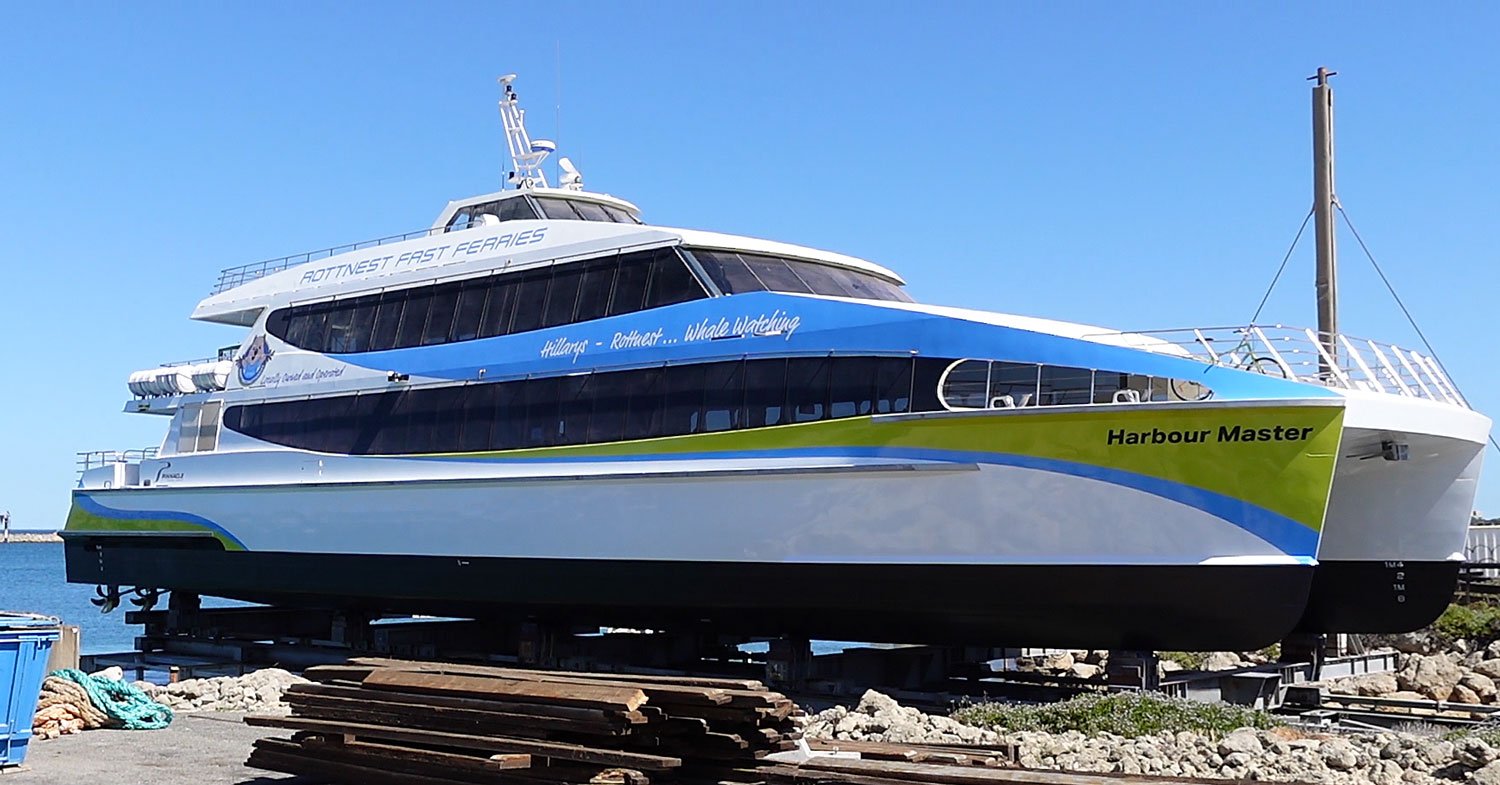 Design of graphics for new Rottnest Ferry, 'Harbourmaster'