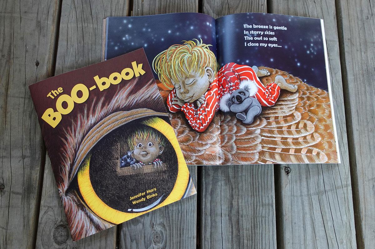 Childrens book design for BooBook