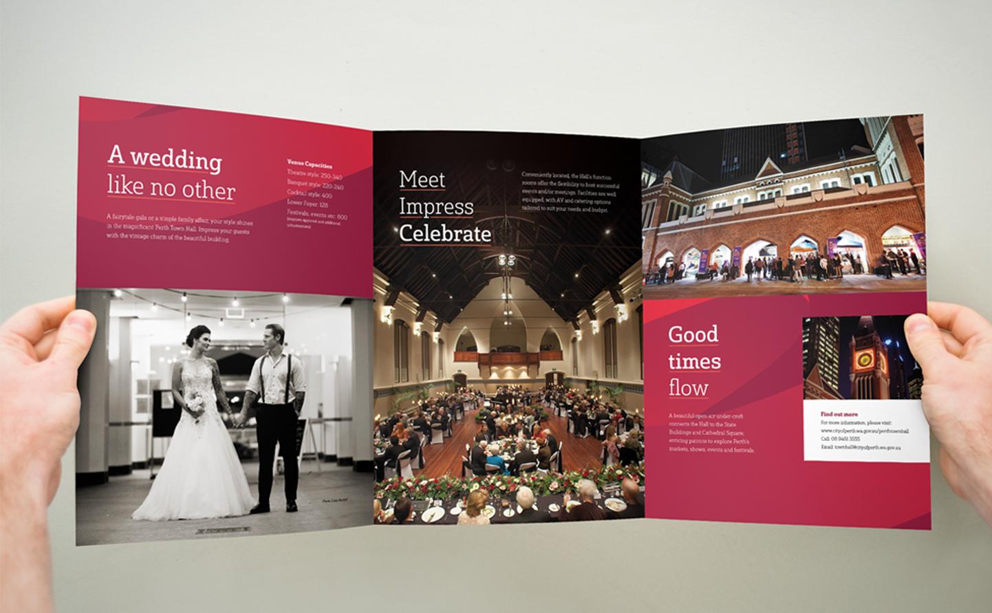 Perth Town Hall marketing materials