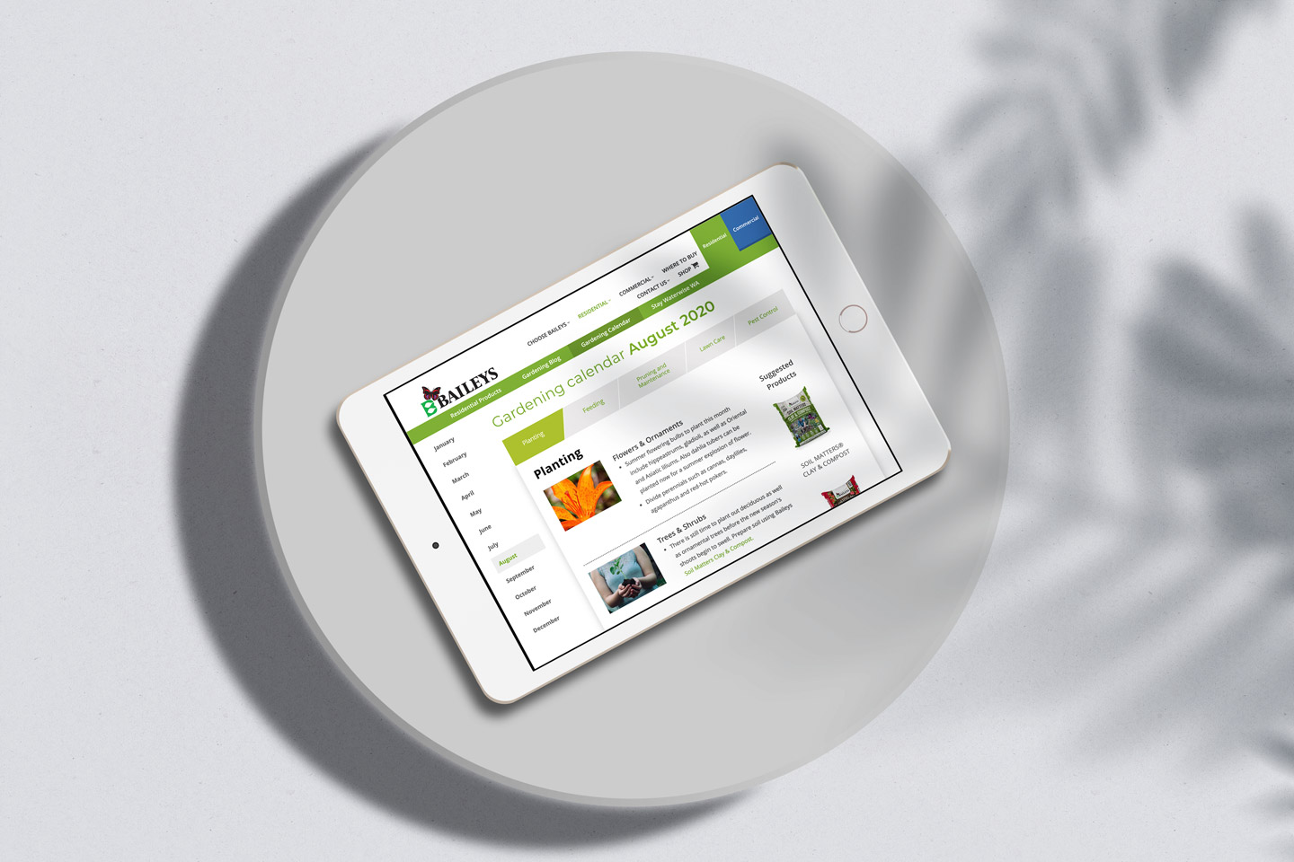 Website design for Baileys Fertiliser