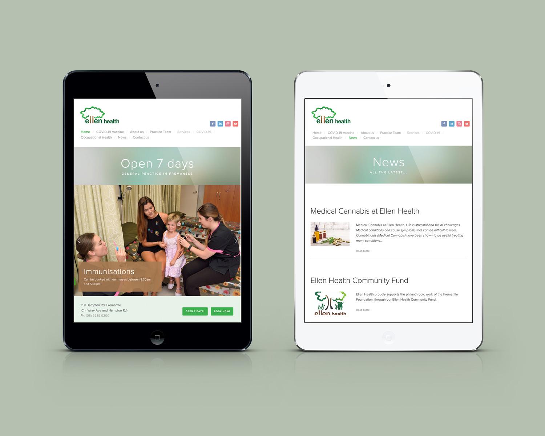 Ellen Health Website Design
