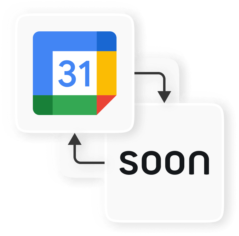 Logo Soon and Google Calendar