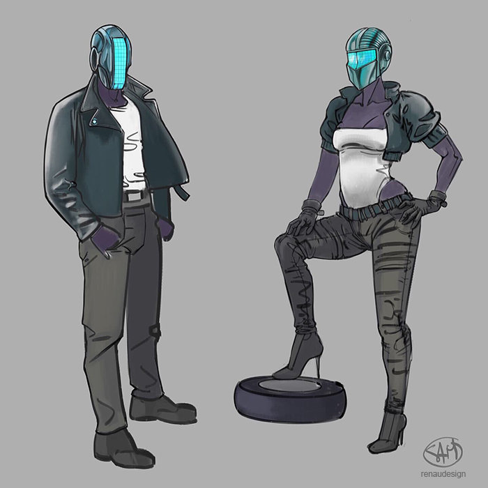 Avatars for the cyberrun game