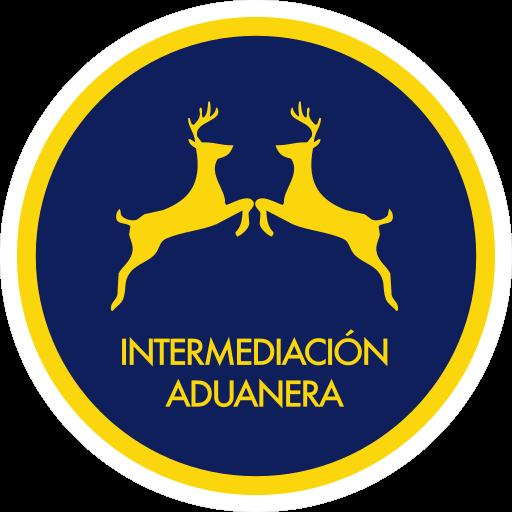 Un icono de intermediacion aduanera, hechos por dos renos mirandose dentro de un circulo