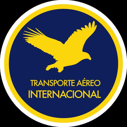 Icono de transporte aereo, contiene una aguila dentro de un circulo con el titulo en el lado inferior