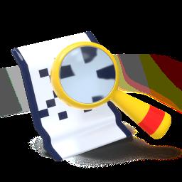 icono, lupa, mirando un documento, examinar
