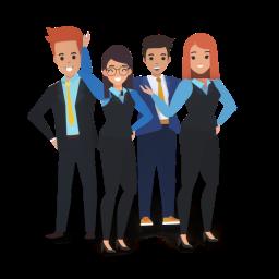 grupo de personajes cutout