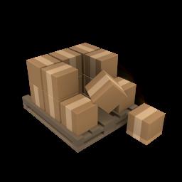 icono de cajas, pallete, estiba