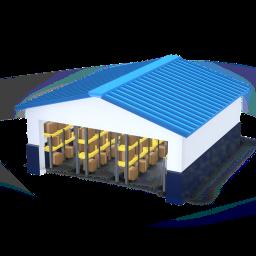 Icono de bodega, warehouse