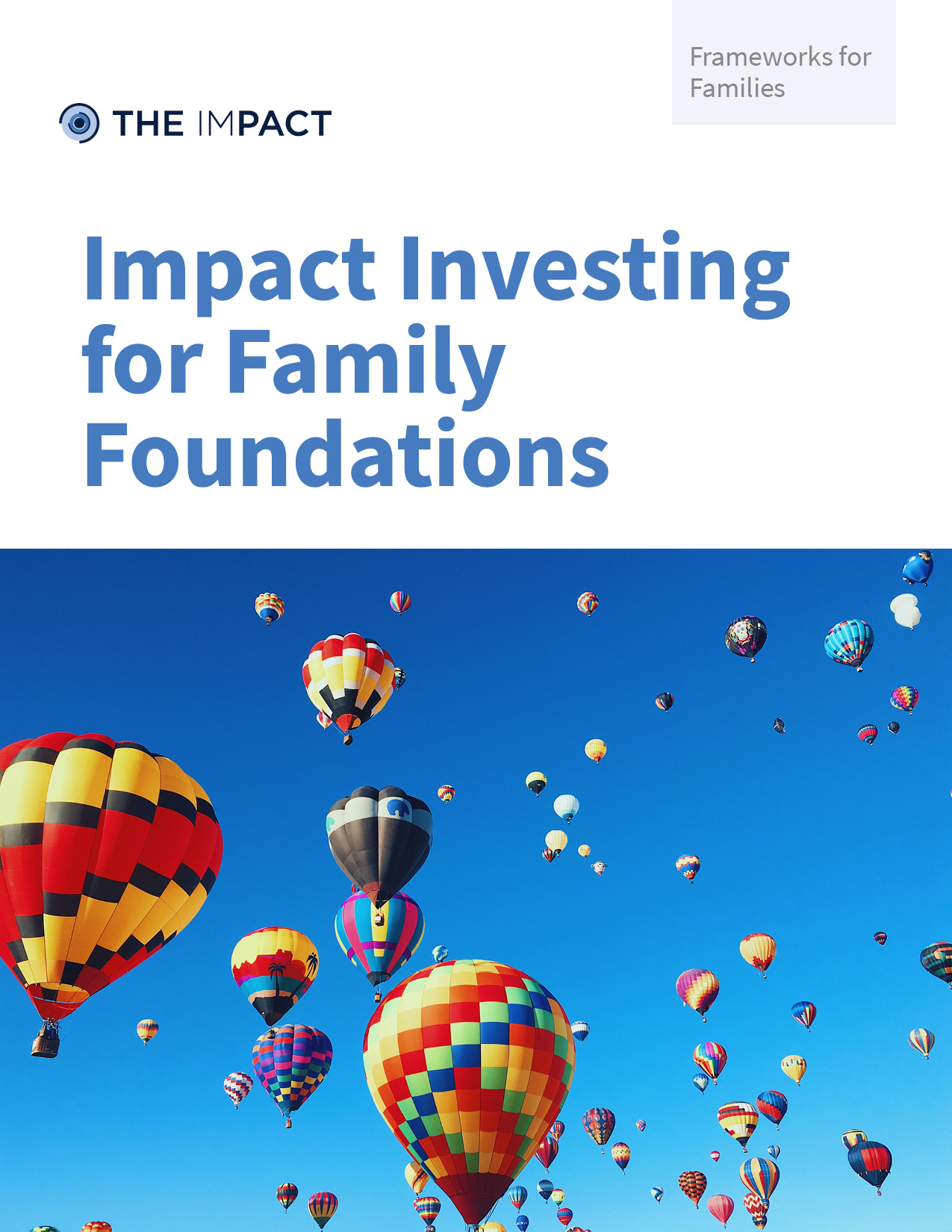 Impact Investing for Family Foundations. A framework for families by The ImPact.