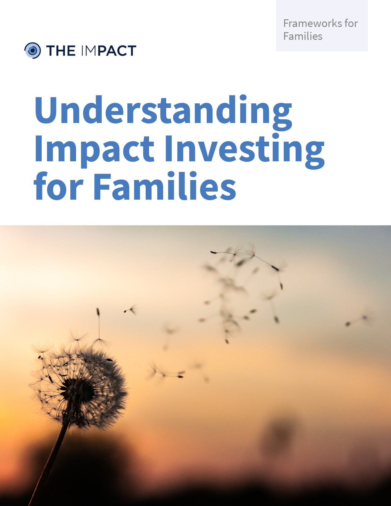 Understanding Impact Investing for Families. A framework for families by The ImPact.