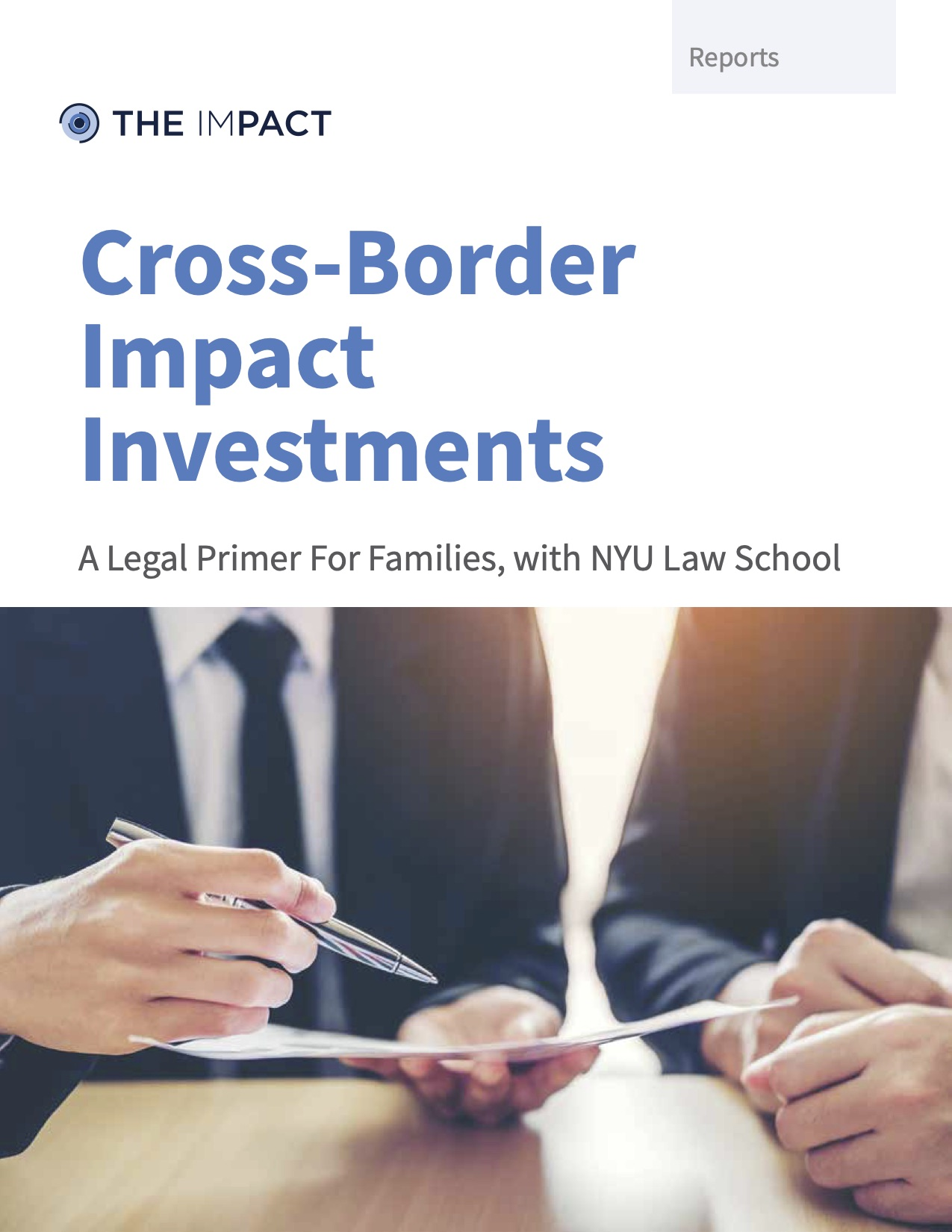 Cross-Border Impact Investments. A report by The ImPact.