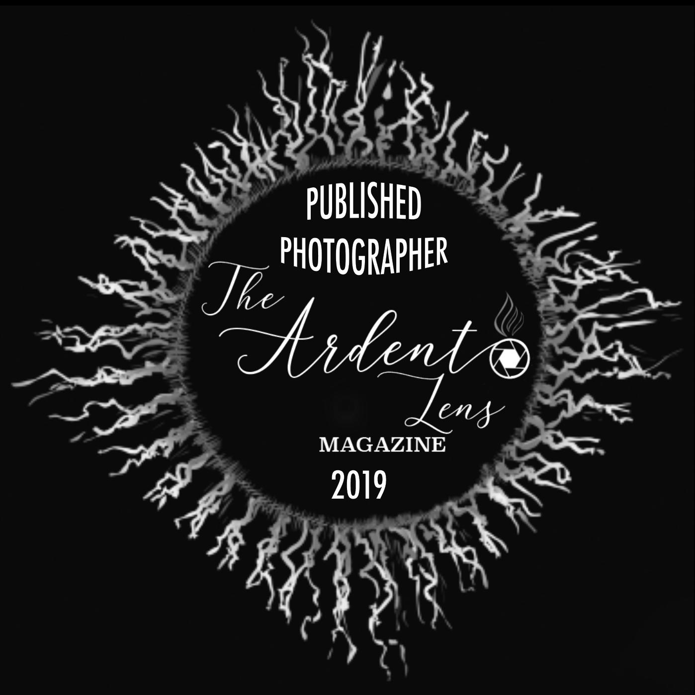 Ardent Lens magazine publication stamp, published photographer
