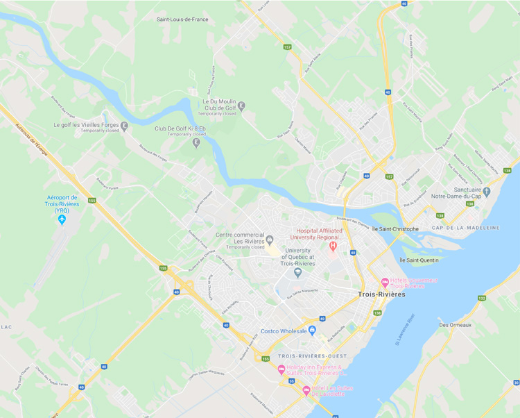 map of trois rivieres