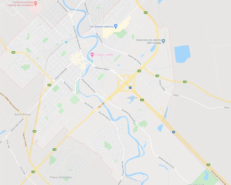 map of joliette