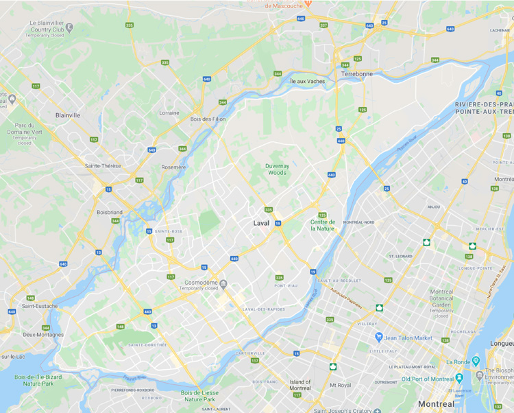map of laval