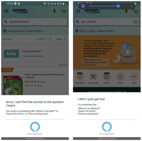 Alexa Voice Search Demo