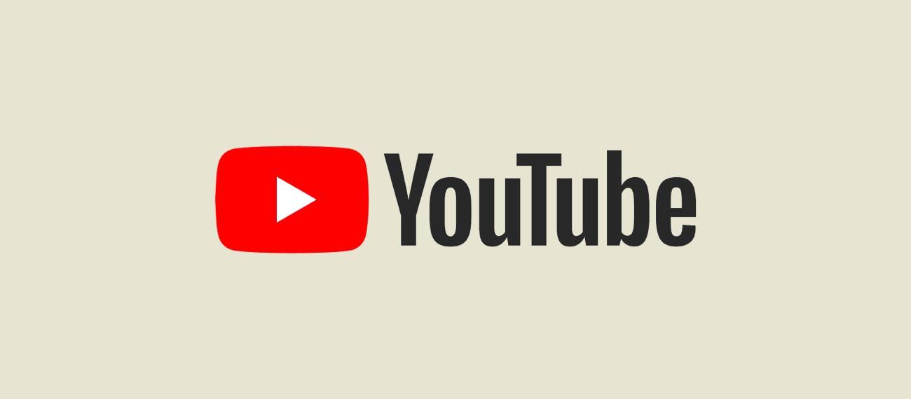 YouTube app's logo in white background