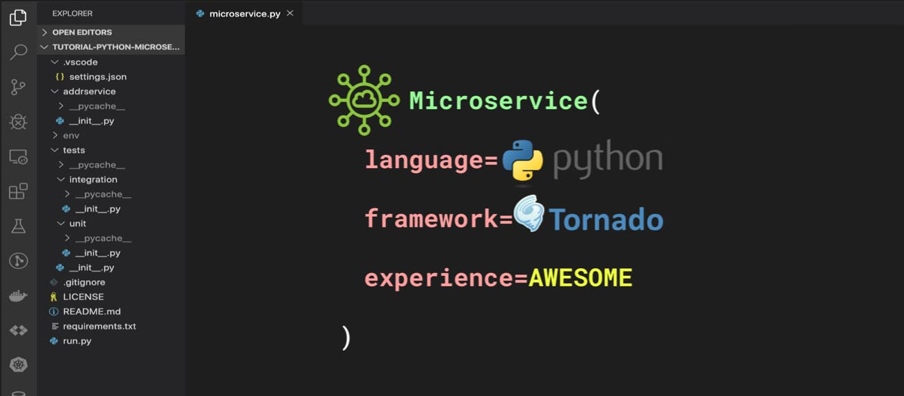 Python Microservices Build and test REST endpoints