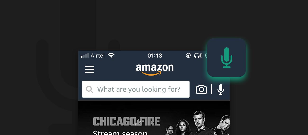Amazon added Voice Search in Amazon India shopping App