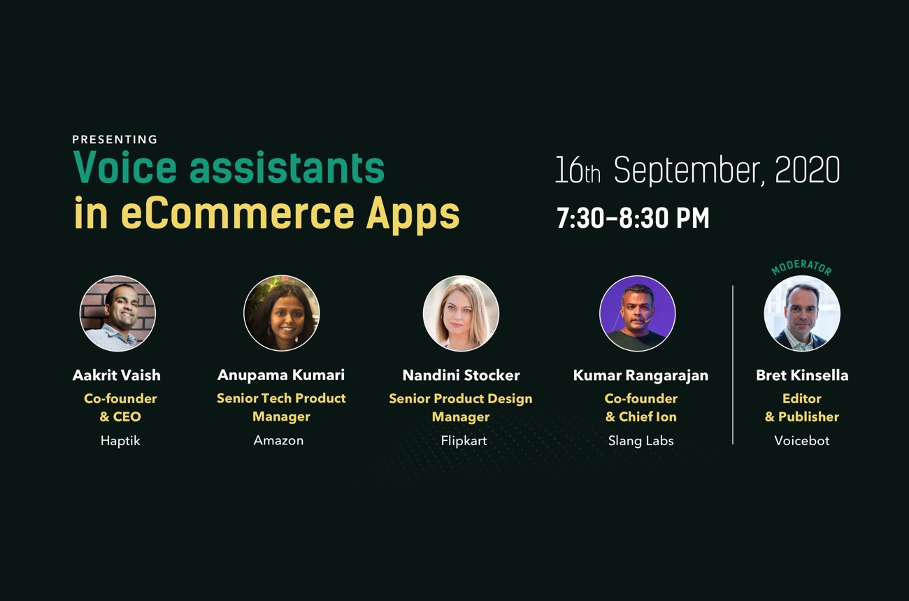 Voice Assistants in Ecommerce Apps Webinar