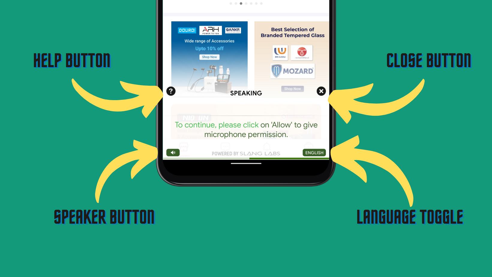 Slang Surface inside Udaan App