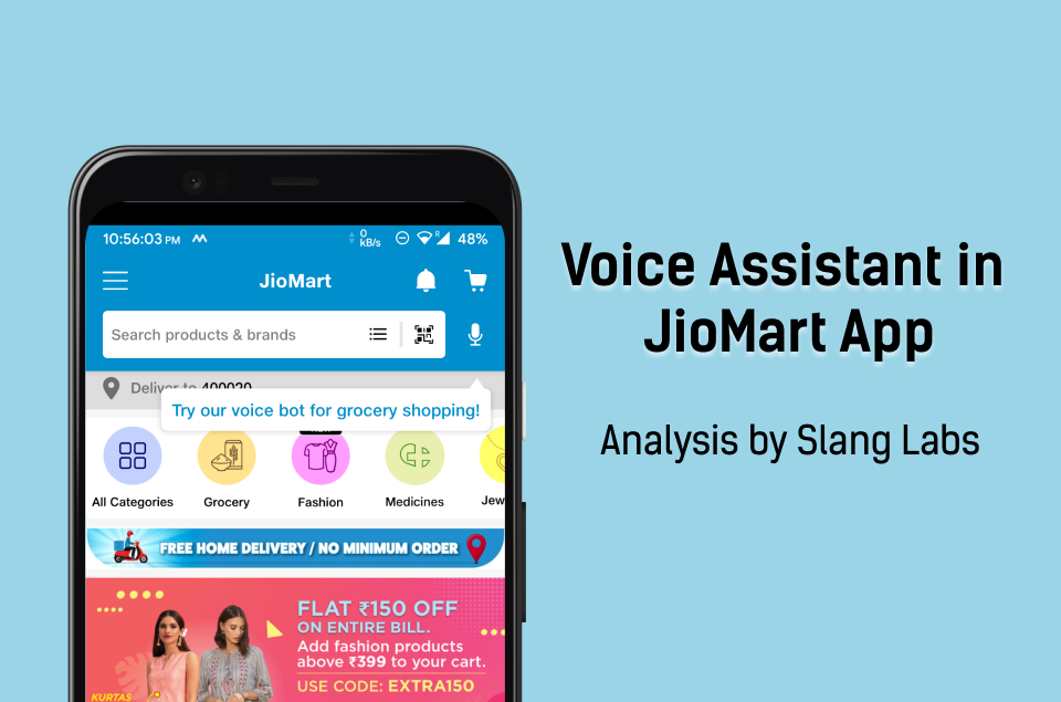 JioMart's Voice Assistant for Retail Shopping