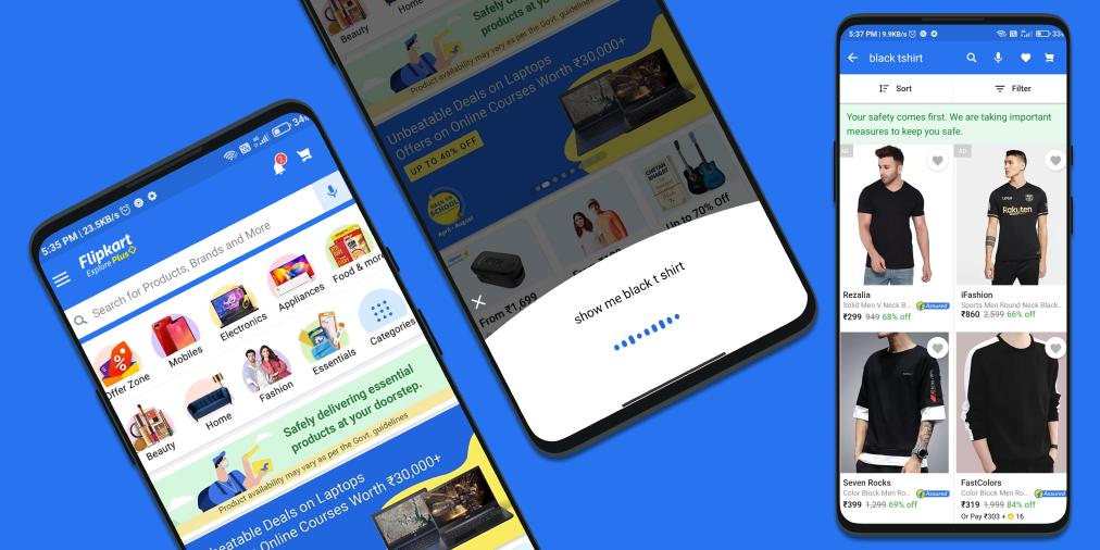 Flipkart Retail Shopping in-app Voice Assistant